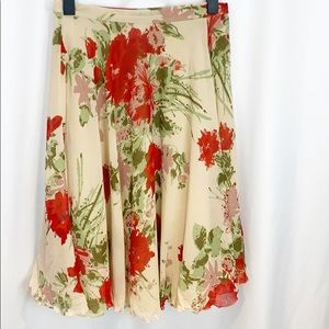 Moschino Cheap and Chic Silk Floral Skirt